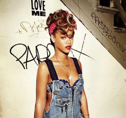 Rihanna bandana hairstyle