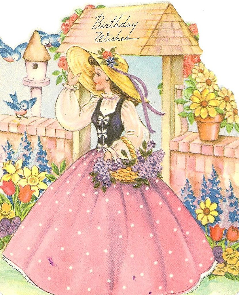 vintage birthday wishes from Liz | Pinturas y Dibujo
