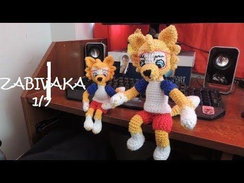 Alpaca Amigurumi Patron Gratis : Zabivaka lobo mascota mundial amigurumi crochet parte