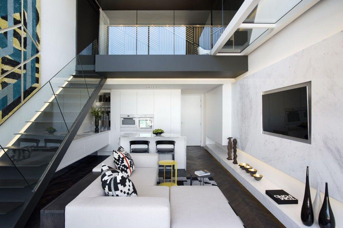 White And Black Interior Design In Small Apartment By SAOTA, De Waterkant, Cape  Town