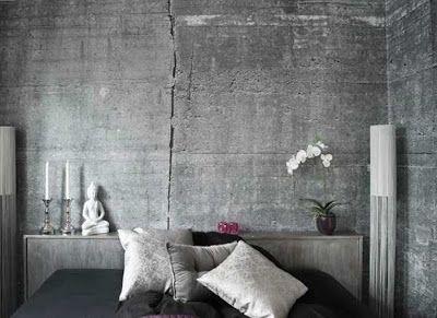 BoHo / Bohemian inredning & ditt-o-datt...: Inred hemma med betongtapeter för tung & fräck industristil...