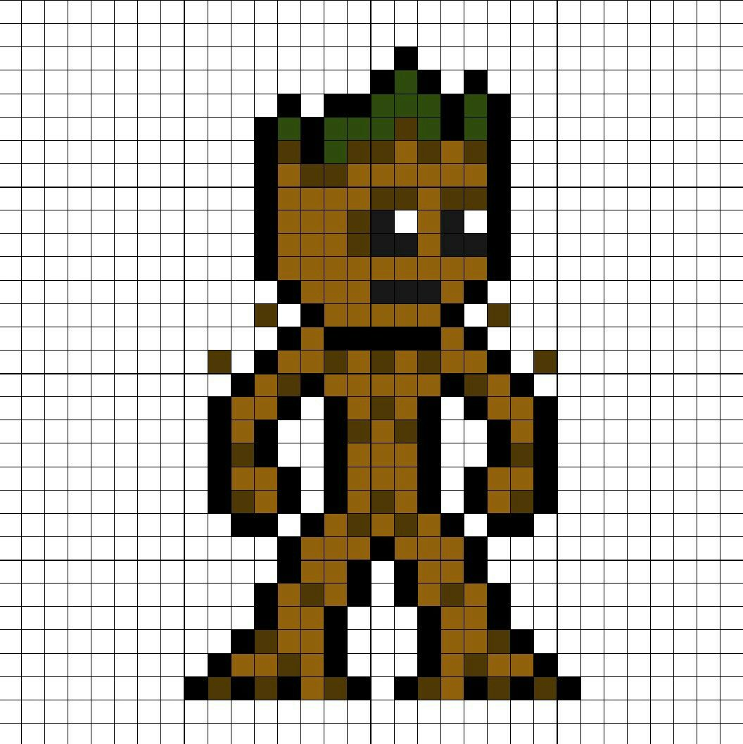Groot Teenage Perler Bead Pattern Perler Bead Art