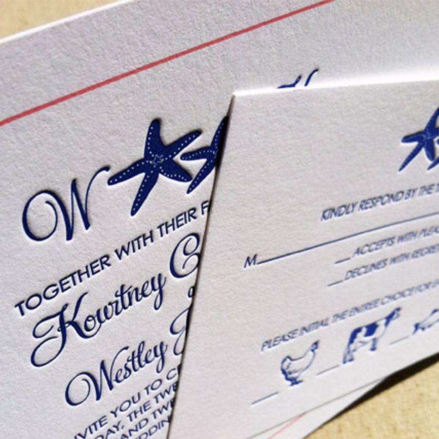 Beautiful, Affordable Letterpress Wedding Invitation ... |Inexpensive Wedding Invitations Letterpress