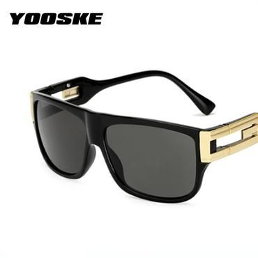 a355899846f YOOSKE Retro Sunglasses Men Vintage Brand Designer Sun Glasses Male  Celebrity Hip-Hop Glasses Female