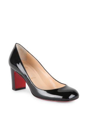 55294999aa9 CHRISTIAN LOUBOUTIN Cadrilla 70 Patent Leather Block Heel Pumps.   christianlouboutin  shoes  pumps
