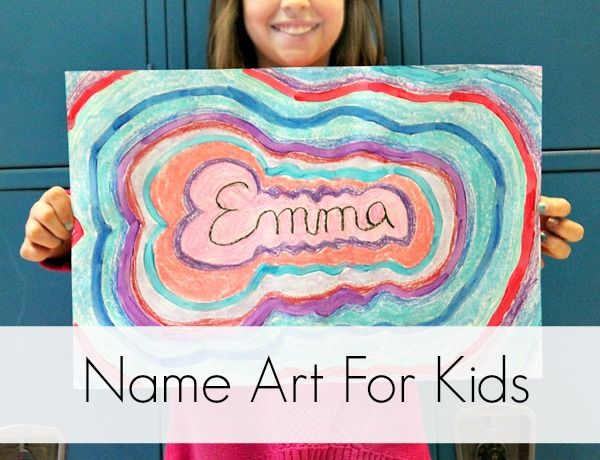 Name Art Project For Kids Artzycreations Com Name Art Projects Kids Art Projects Art For Kids