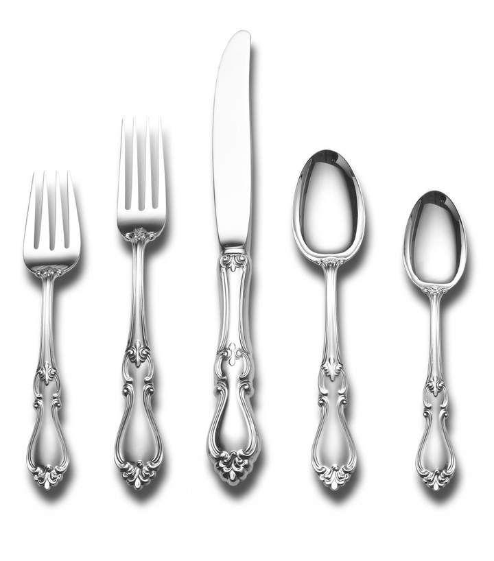 Towle Silversmiths Queen Elizabeth 5 Piece Dinner Flatware Set In 2021 Sterling Silver Flatware Flatware Set Sterling Flatware