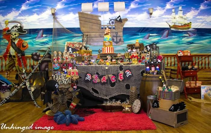 Pirate Theme Party Decoration Ideas Part - 33: Pirate Themed Birthday Party With Such Cute Ideas Via Karau0027s Party Ideas!  Full Of Decorating