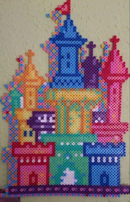 Castle hama perler beads by Sonja Ahacarne