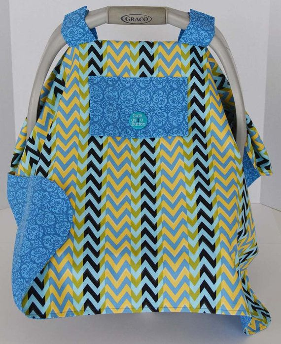 Chevron Print Baby Car Seat for Boys or Girls by Debsflorals, $29.99