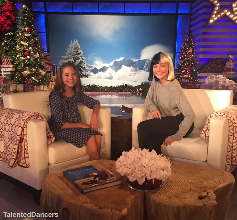 Zieglermackenzie Behind The Scenes Of The Ellen Degeneres Show Dance Moms Maddie And Mackenzie Famous Dancers