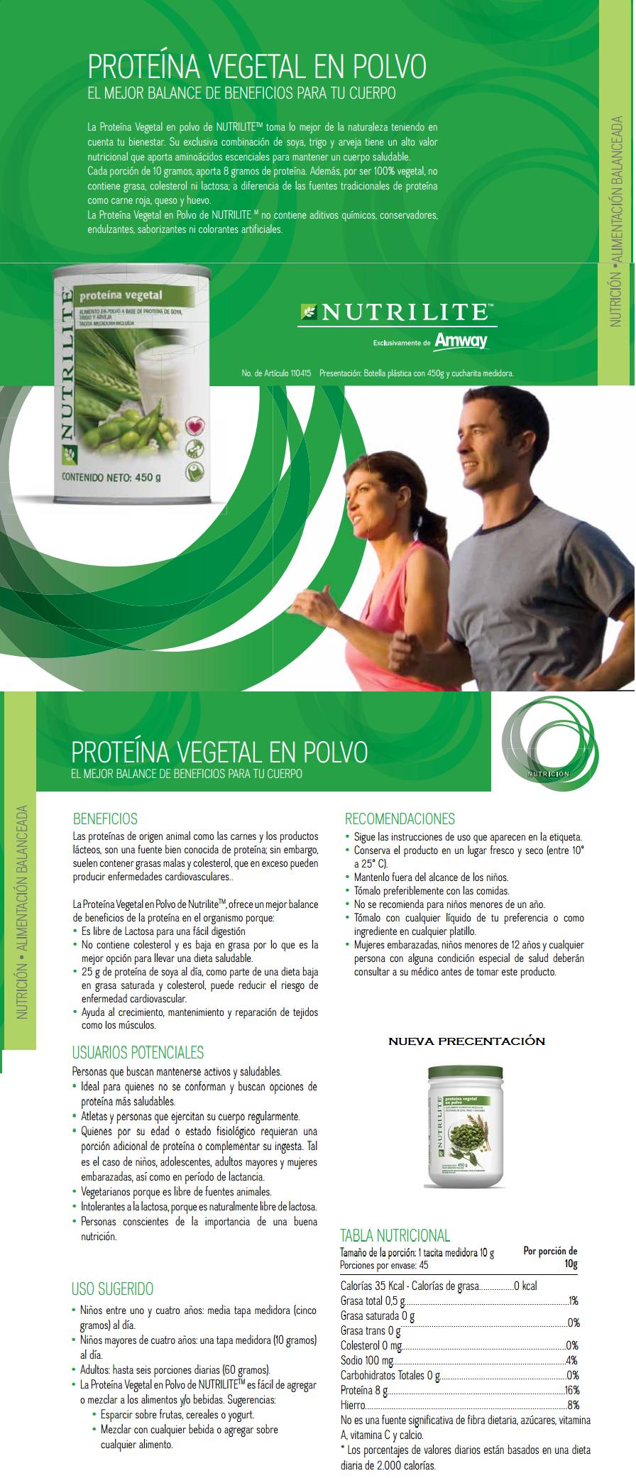 Proteina vegetal nutrilite sirve para adelgazar