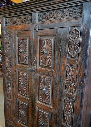 Antique Carved Indian Cabinet Tierra Del Lagarto Scottsdale Furniture Store New Arrivals With Images Craft Cupboard Indonesian Decor Painted Furniture