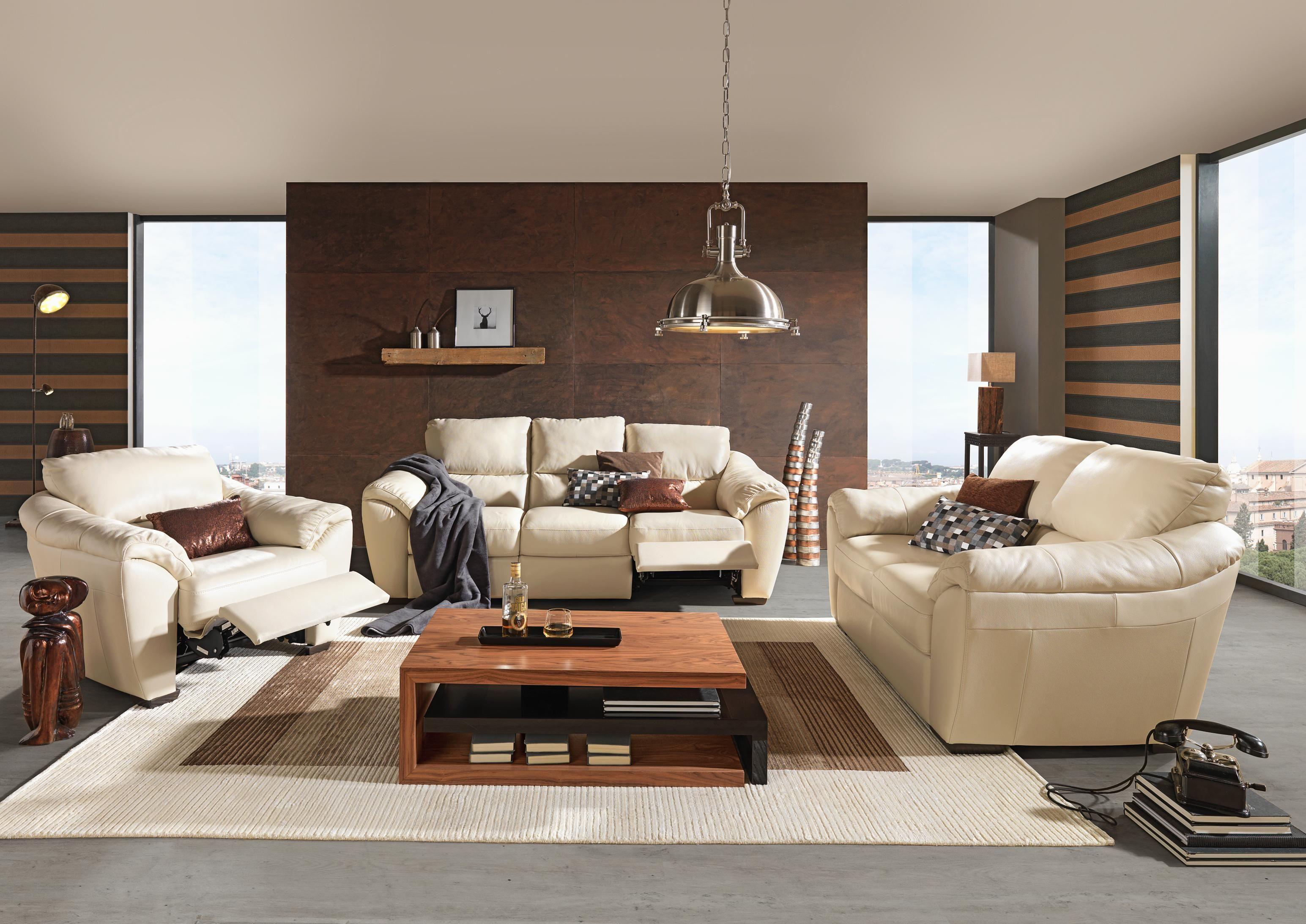 Sitzgarnitur Von Celina Home Mit Elegantem Lederbezug In Weiss Haus Sitzgarnitur Sitzen