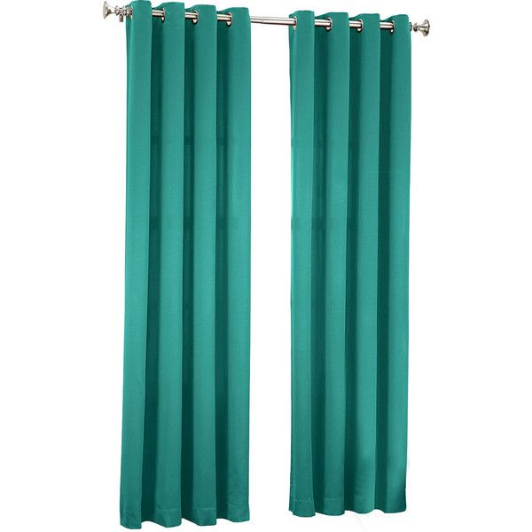 Sun Zero Garrett Room-Darkening Grommet-Top Curtain Panel ($30) ❤ liked on Polyvore featuring home, home decor, window treatments, curtains, room darkening curtain panels, grommet draperies, grommet curtains, room darkening window panels and grommet window panels