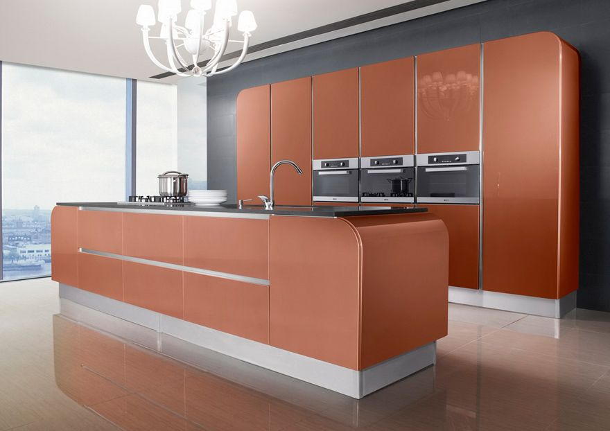 OP16-S04: Rural Red Oak Kitchen Cabinet | Spaces where eating is a ...