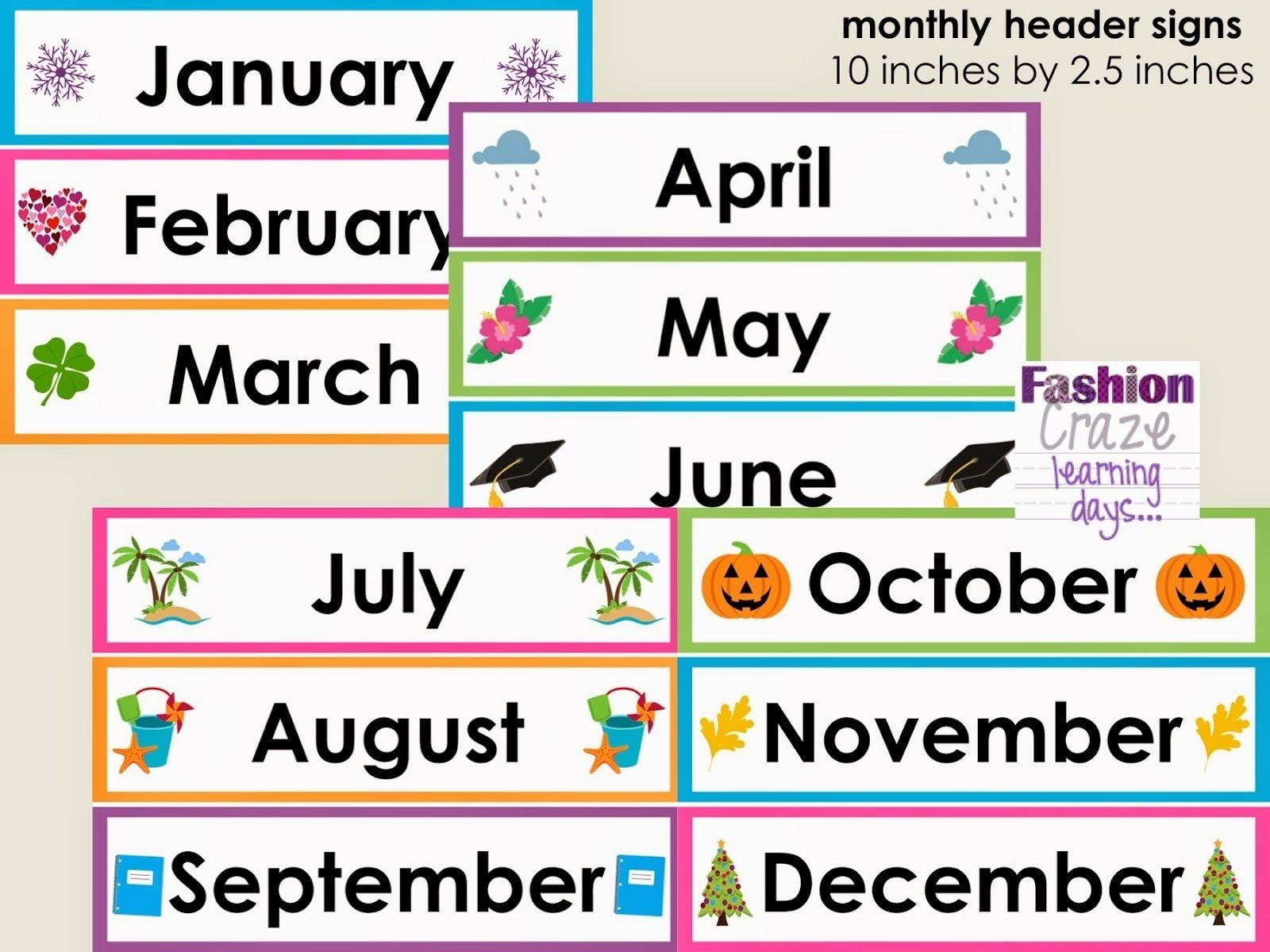Free Calendar Headings Cliparts Download Free Clip Art