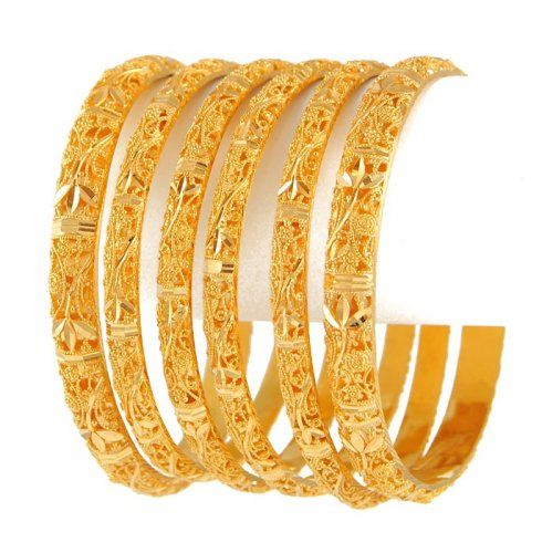 22kt Indian Gold Pakistani Gold Jewelry Gold Bangle Set Fine Gold Jewelry