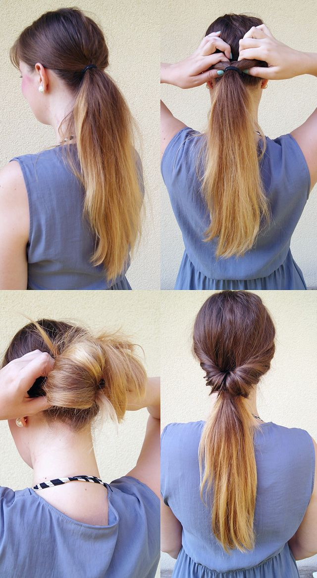Easy Hairstyle Tutorial Inside Out Ponytail Easy Hairstyles Hair Styles Hair Tutorial