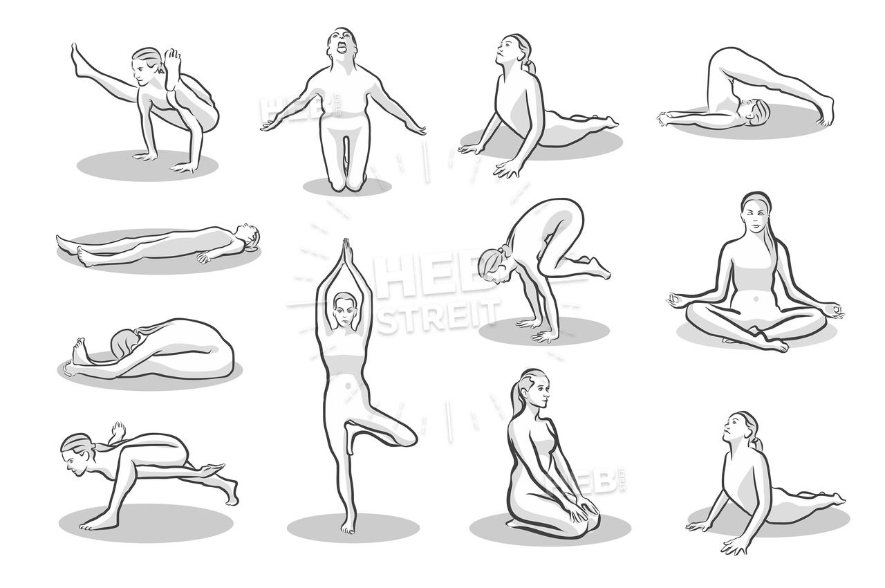 Yoga Poses Sketches