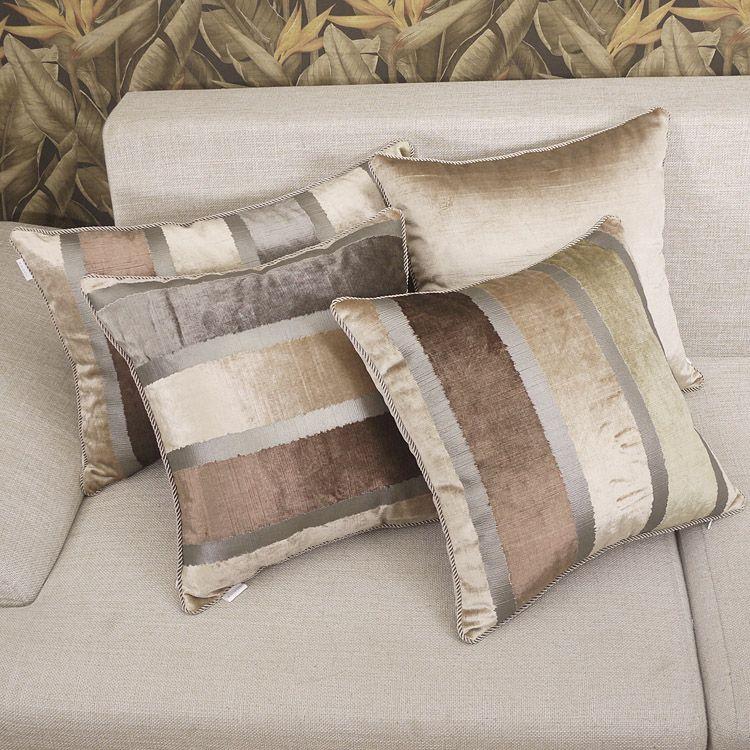 Elegant Sofa Pillows: Pillow Cover Almofada Almofadas Decorativas Elegant Stripe