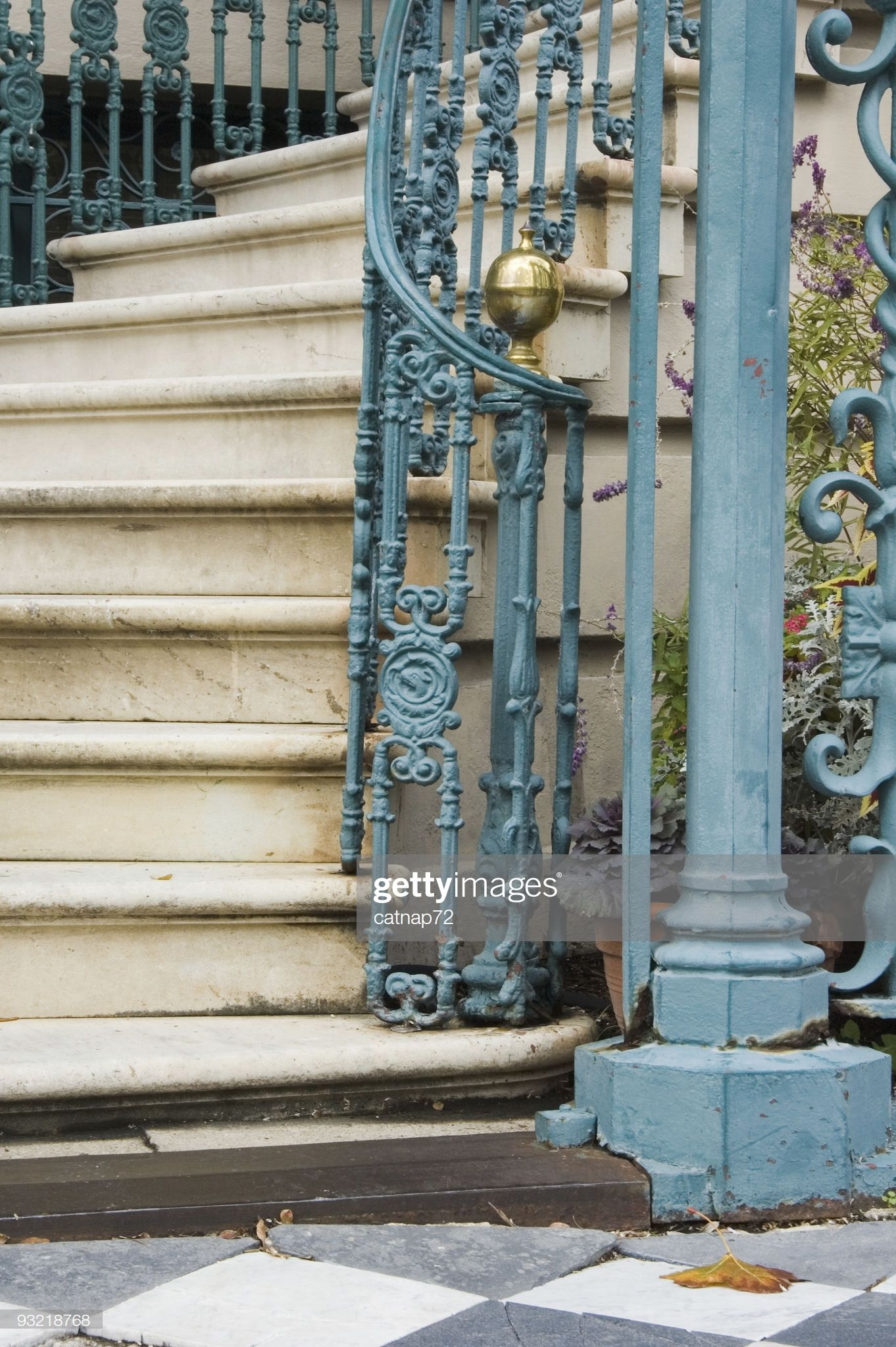 Best Stock Photo Steps And Staircase Detail Fancy Old Iron 400 x 300