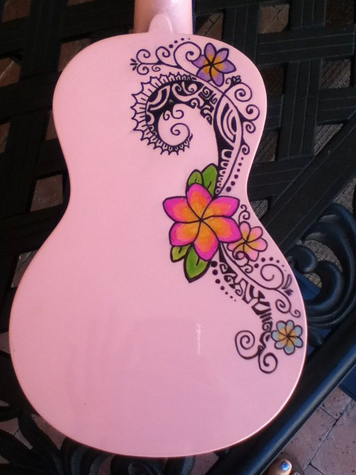 Decorated My Ukulele With A Polynesian Design With Sharpie