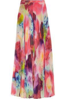 25004c77f6 Alice Olivia Shannon printed chiffon maxi skirt   {Spring 2013 ...