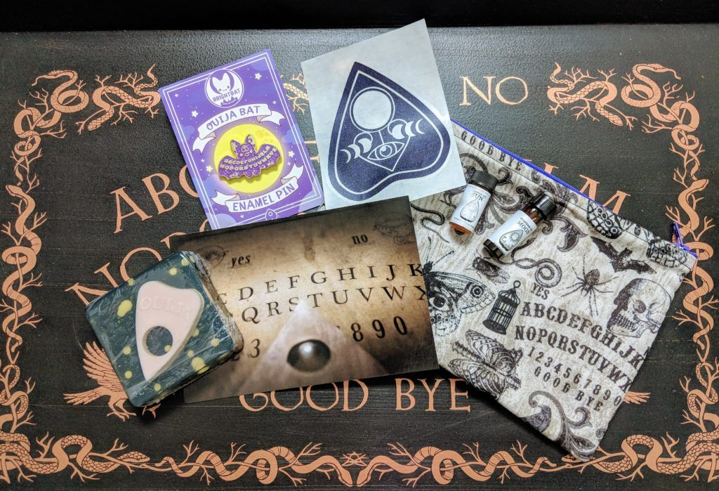 glamour ghoul box unboxing & review OUIJA Indie beauty