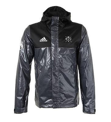 Adidas black men's real madrid rmfc shiny #windbreaker football ...