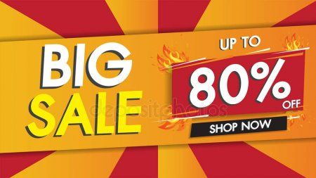 Sale Banner Template Geometric Abstract Shape Design Big Sale Special  S