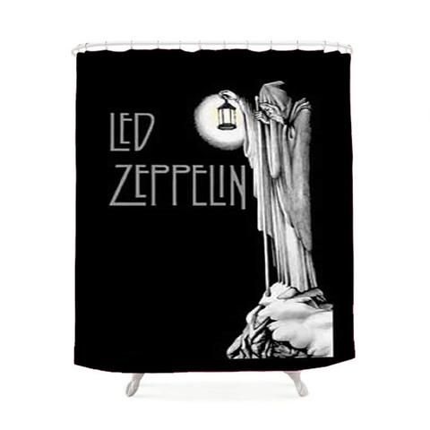 Led Zeppelin Gnome Bathroom Gallery Shower Curtains Gnomes