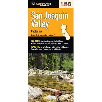 Universal Map San Joaquin Valley California Fold Map Set Of 2