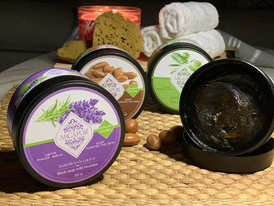الصابون المغربي بزيت اللافندر Black Soap Soap Food