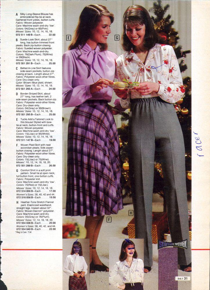 Retrospace Catalogs 14 Sears Fashion 1981 Fashion 80s Fashion 1980s Fashion