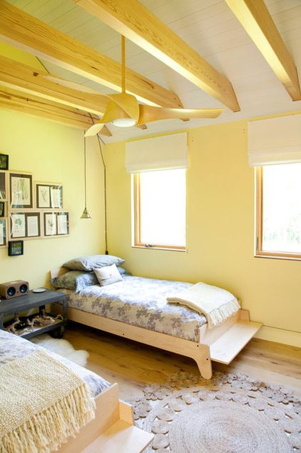 rustic bedroom by Actual Size Projects. Daffodil Yellow- Sherwin ...