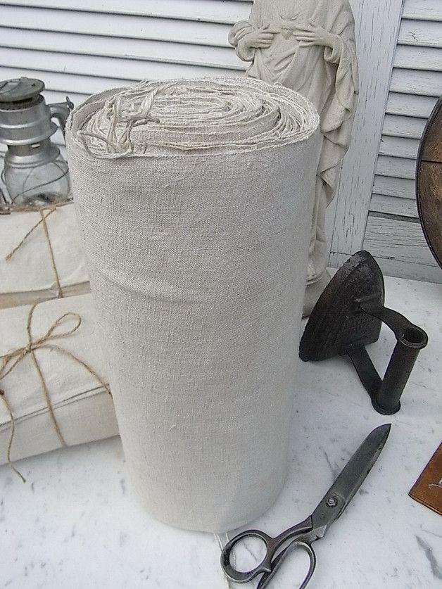 Vintage Stoffe - 10 m Ballen altes Leinen Wäscheleinen 68cm breit - ein Designerstück von artdecoundso bei DaWanda
