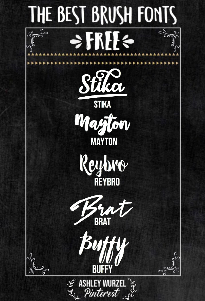 Download The best Brush Script fonts - I put these fonts together ...