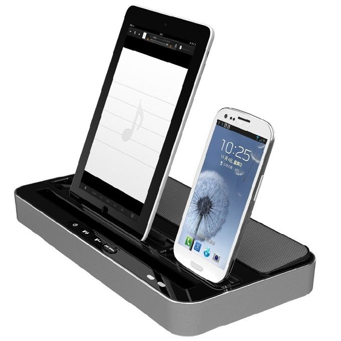 Docking Station Charger Speaker & Adapter For iPhone 5 5S iPad 4 ...