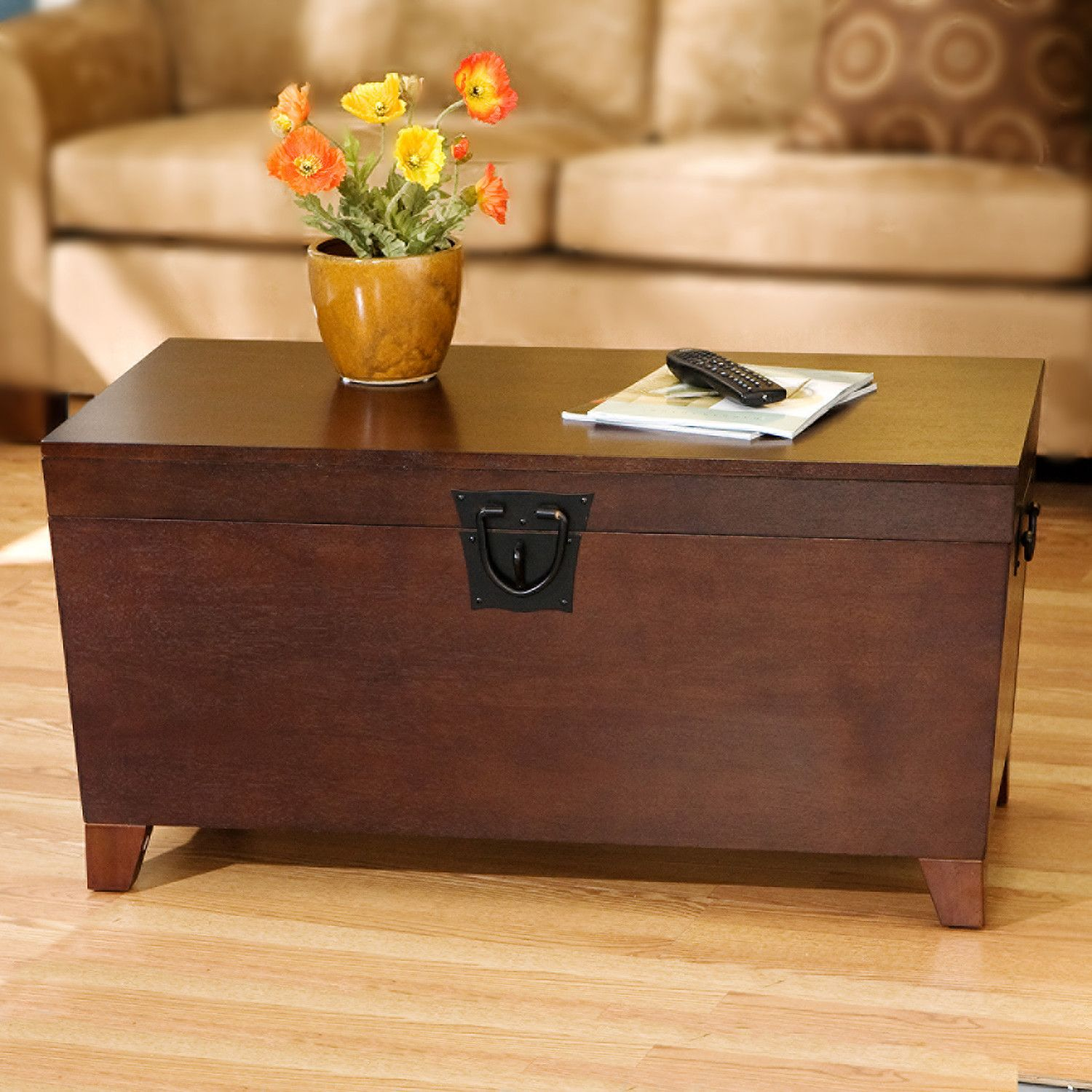 Wildon Home Cascade Trunk Coffee Table with Lift Top Den Ideas