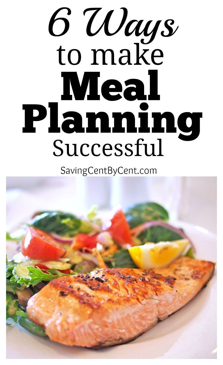 6 ways to make meal planning successful meal ideas pinterest