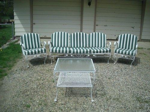 vintage wrought iron meadowcraft patio
