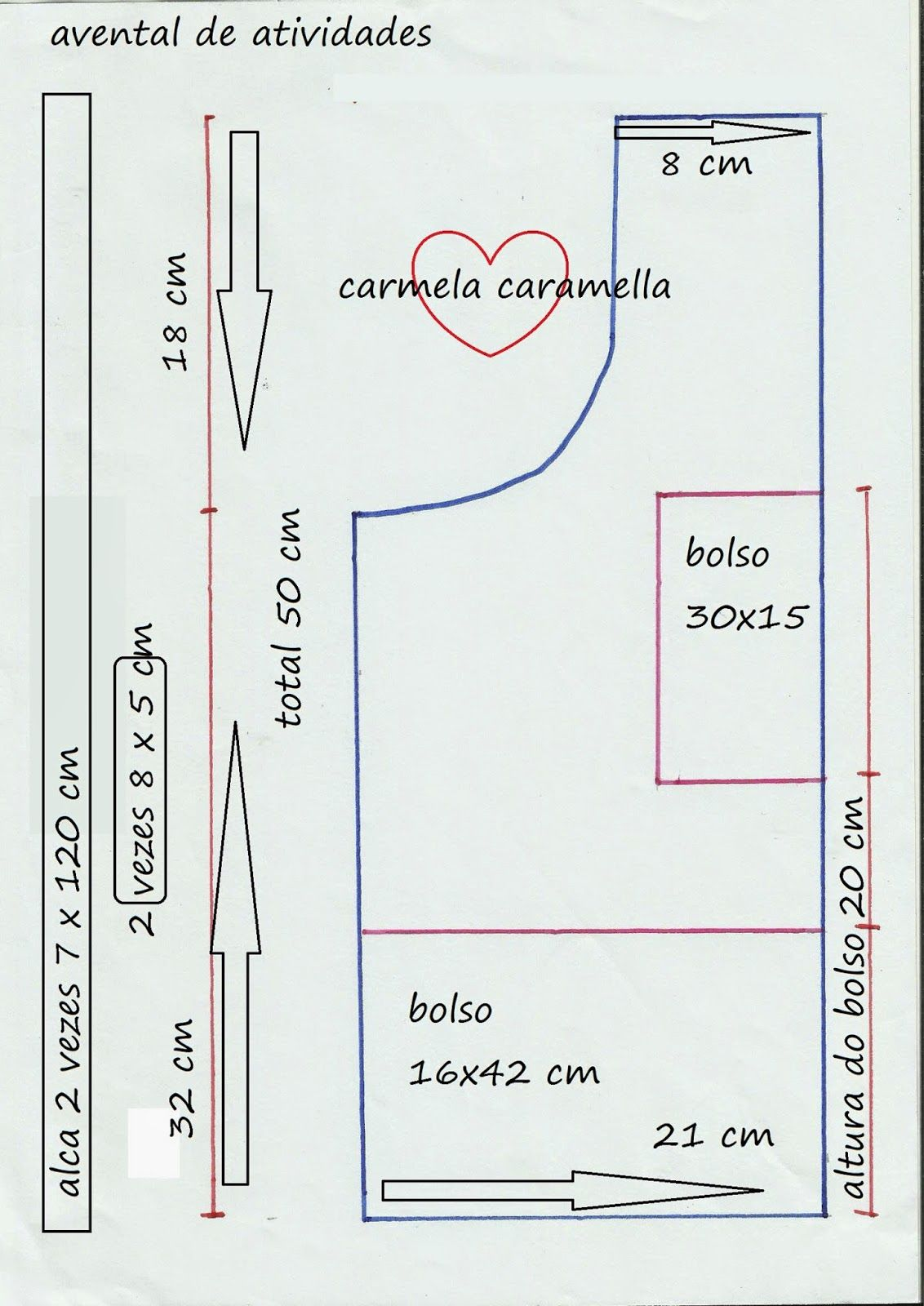Carmela Caramella   avental infantil  4f48afdc0c9