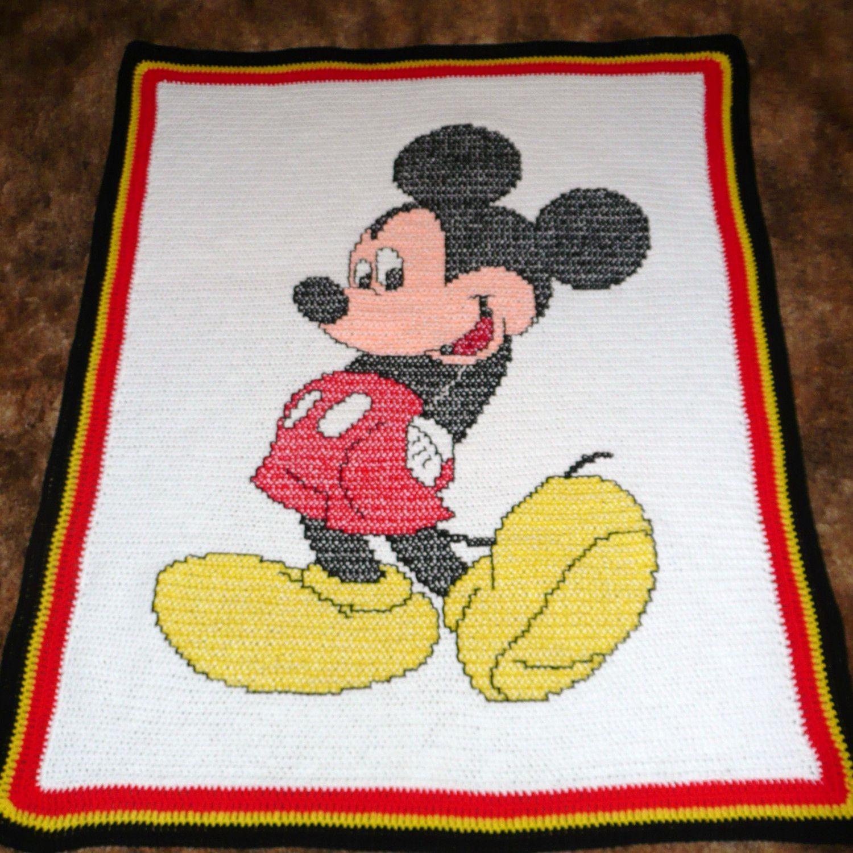Moose silhouette crochet afghan throw blanket