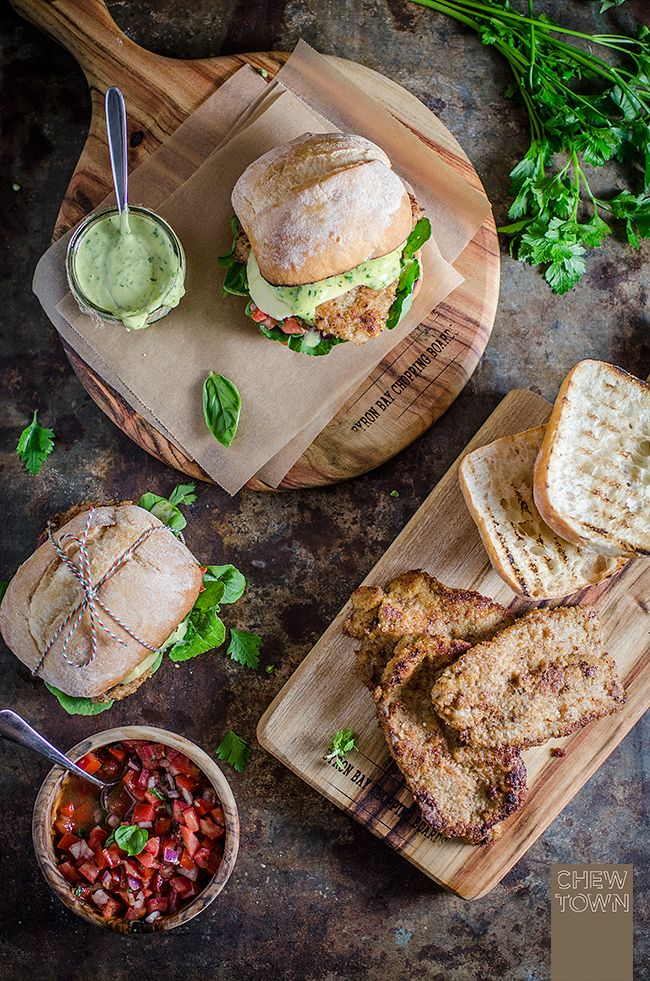 Veal Cotoletta Milanese Burger | Chew Town Food Blog
