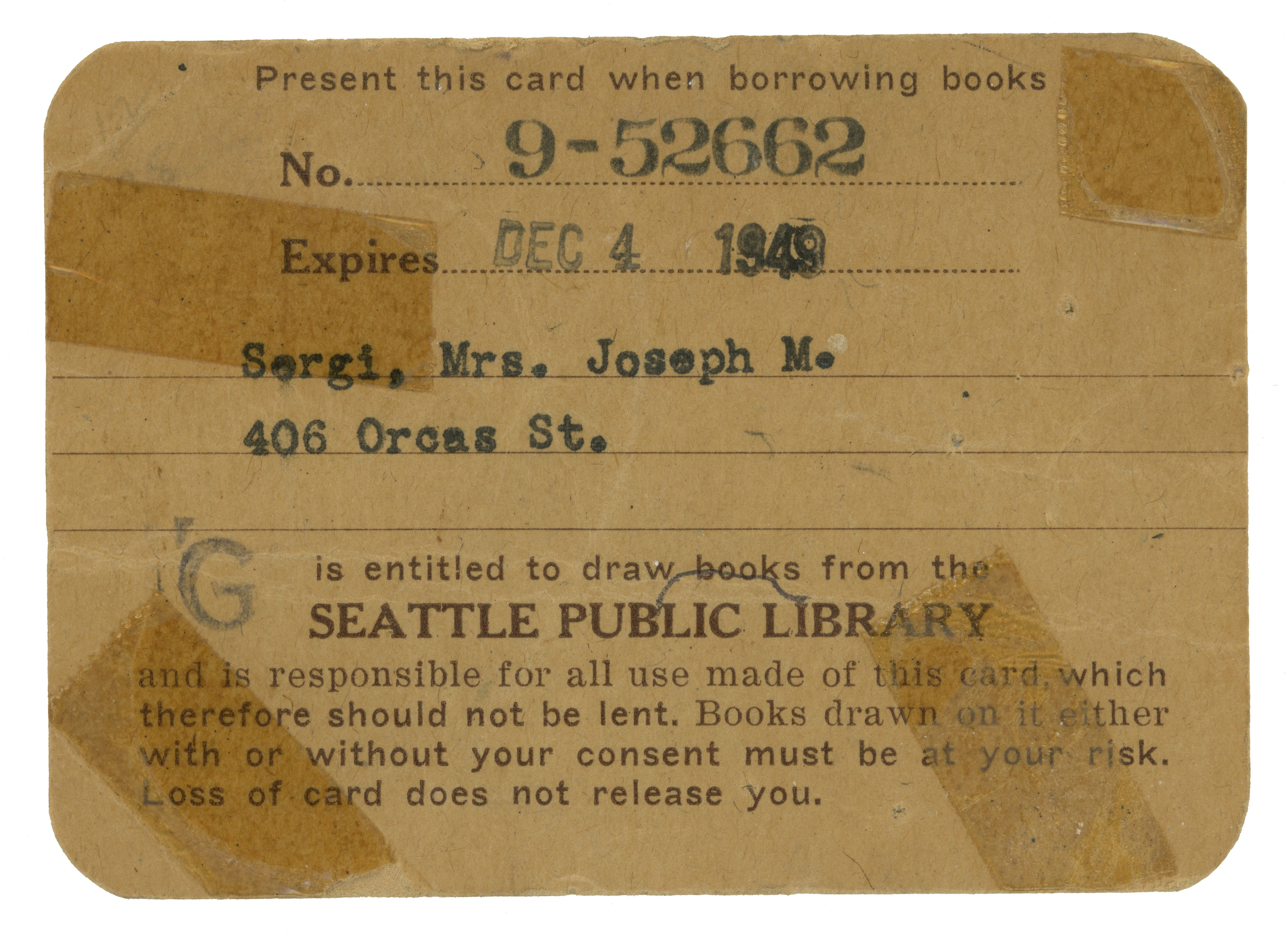 An old seattle public library card from the 1940s what s changed library card sign