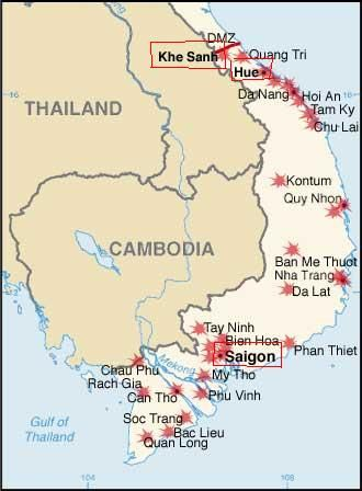 Lai Khe Vietnam Map.Overall Map Of Vietnam War After Full Scaled Tet Offensive Of