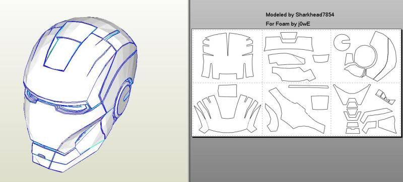 Iron man mark 46 pepakura foam templates costume pinterest iron man mark 46 pepakura foam templates pronofoot35fo Image collections