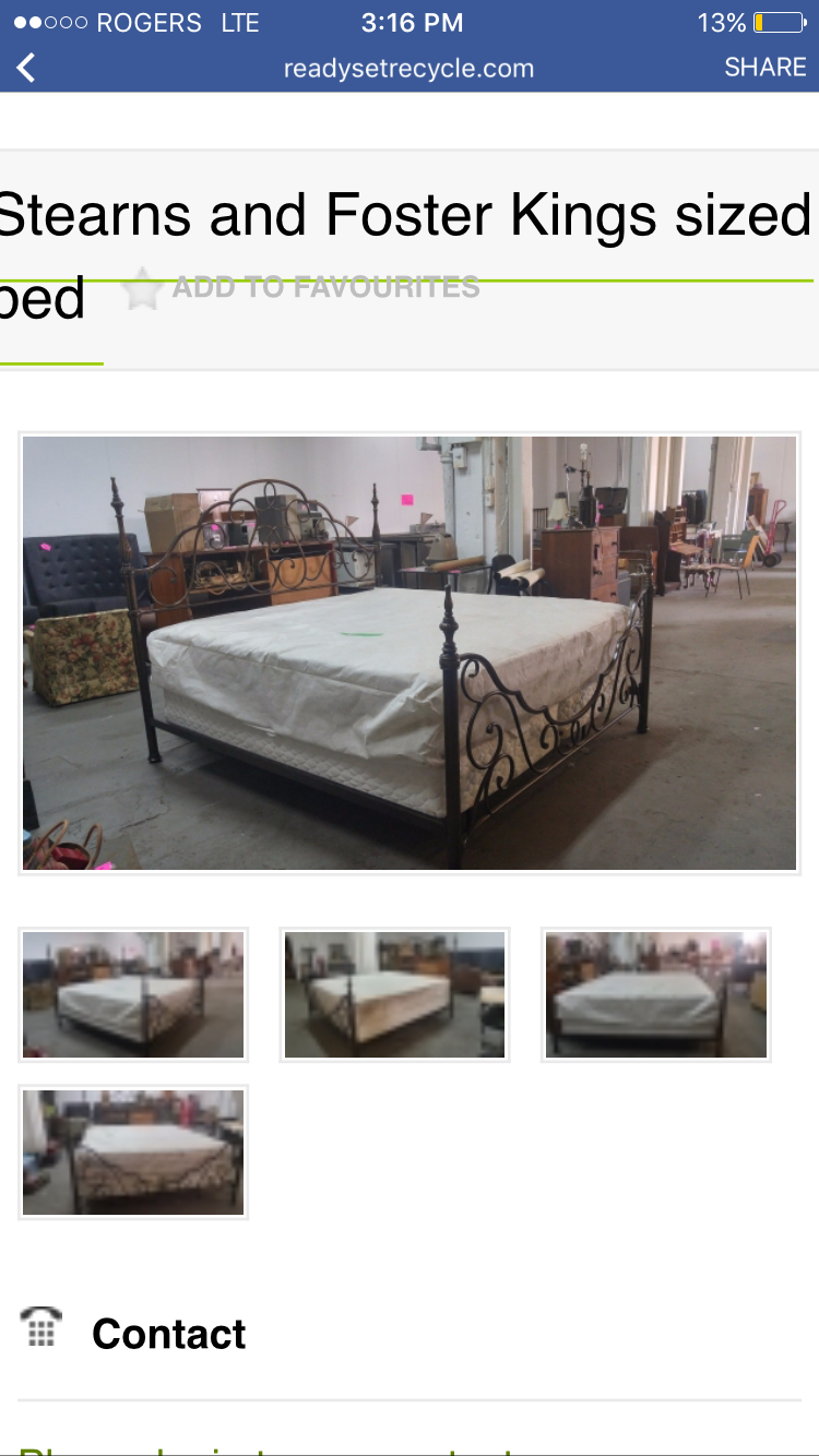 Approved King Sized Bed Frame Box Spring And Mattress Included
