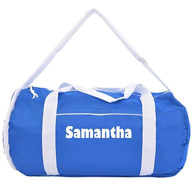 08afcc7515 Kaysees Personalized Two-Tone Sport Gym Duffel Bags with Player Name Review